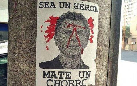 Bahía Blanca: aparecieron carteles que incitan a matar a Mauricio Macri