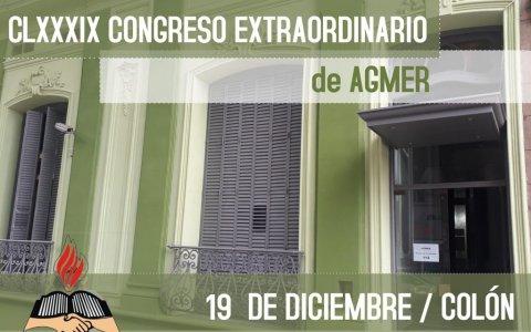AGMER convoca a Congreso Extraordinario
