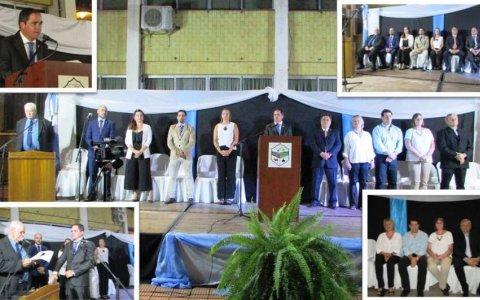 Con un fuerte acompañamiento Asumió Leonardo Hassell A La Intendencia Municipal.