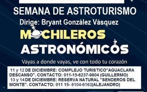 Observaciones astronómicas en gualeguaychú y pueblo belgrano