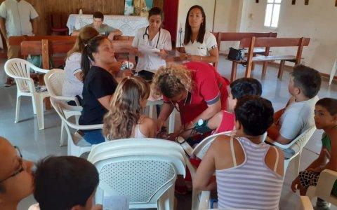 El equipo de profesionales del cic médanos visito el barrio san agustín