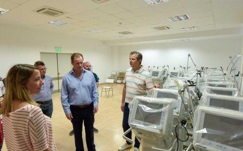 Bordet recorrió en paraná uno de los hospitales que se activan para combatir al coronavirus