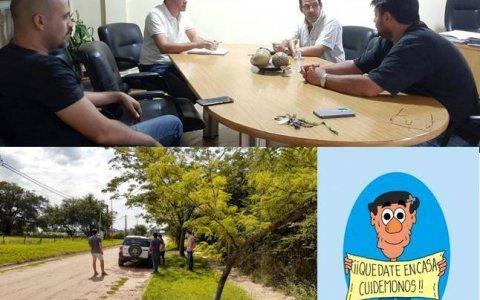 """Leonardo Hassell: """"en Larroque estamos alertas, con todas las áreas del municipio operativas y coordinando acciones""""."""