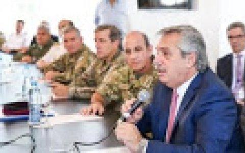 Alberto se junta con las fuerzas federales  Coronavirus en Argentina.
