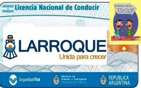 La Municipalidad de Larroque prorrogó los vencimientos de las Licencias de Conducir