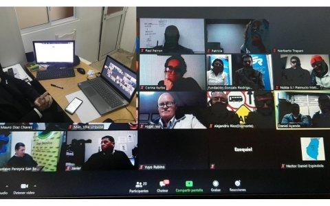 """El intendente de Larroque participó de una videoconferencia sobre """"Conducción segura de motos"""""""