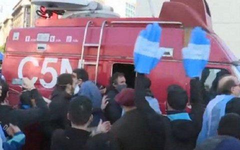 Agredieron a trabajadores de prensa durante las protestas