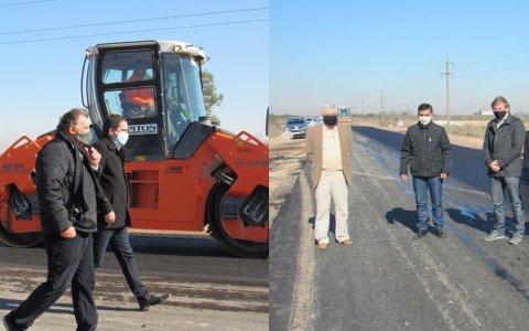 El intendente Hassell participó de la recorrida de la ruta 51 y gestionó obra vial para la ciudad