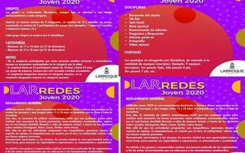 """Deportes municipal invita a participar de """"LARRedes Joven 2020"""""""