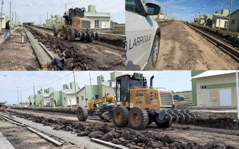 Avanzan las obras complementarias en el complejo habitacional 15 viviendas de Larroque