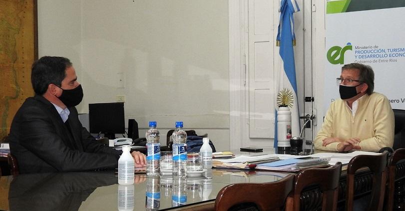 Diversas gestiones llevó adelante el intendente de Larroque en la capital entrerriana