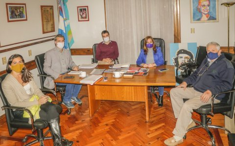 El intendente piaggio recibió a legisladores provinciales