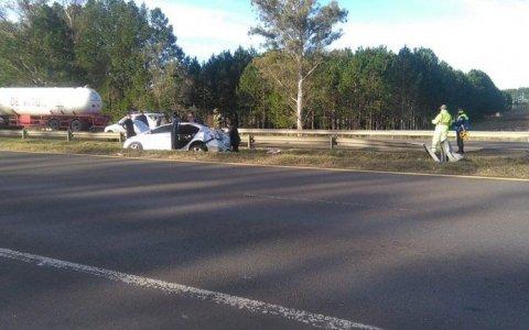 Varios heridos tras accidente en la Autovía 14, cerca del ingreso a Concordia.