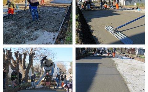 Avanza la obra de repavimentación de calle Tomas Pauletti.