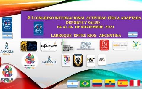 """Larroque será sede del """"XI Congreso Internacional Actividad Física Adaptada, Deporte y Salud"""""""