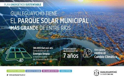 Piaggio inaugura el parque solar municipal más grande de la provincia