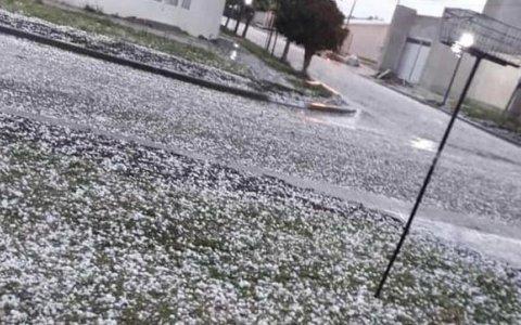 Cayó granizo en Entre Ríos y ampliaron el alerta por tormentas